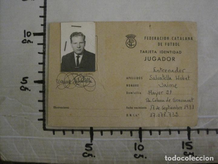 Coleccionismo deportivo: FEDERACION CATALANA FUTBOL-CARNET ENTRENADOR 1965-CF SAN SADURNI-JAIME SALVATELLA-VER FOTOS(V-16.221 - Foto 5 - 157462510