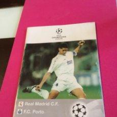 Coleccionismo deportivo: ANTIGUO PROGRAMA FÚTBOL REAL MADRID CHAMPIONS LEAGUE 1997 OPORTO A. Lote 159823630