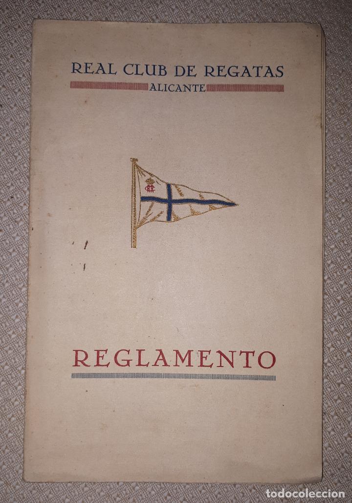 REGLAMENTO DEL REAL CLUB DE REGATAS DE ALICANTE 1926 (Coleccionismo Deportivo - Documentos de Deportes - Otros)