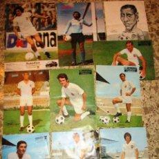 Coleccionismo deportivo: 10 POSTERS VALENCIA C.F.,FÚTBOL,AÑOS 70,PEREIRA,KEMPES,FUERTES,LICO,PELLICER,BARRACHINA,CLARAMUNT.... Lote 160612586