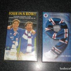 Coleccionismo deportivo: LOTE 2 VIDEOS VHS GLASGOW RANGERS ESCOCIA. Lote 161700586