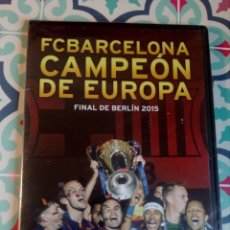 Coleccionismo deportivo: F.C. BARCELONA (CAMPEÓN DE EUROPA) - BARÇA -FINAL DE BERLÍN 2015 - DVD PRECINTADO. Lote 162215246