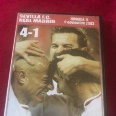 Coleccionismo deportivo: PARTIDO FÚTBOL SEVILLA FC 4 REAL MADRID 1 - DVD LIGA AÑO 2003 - REYES ALVES RAÚL ZIDANE RONALDO. Lote 162982482