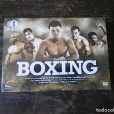 Coleccionismo deportivo: BOXEO. BOXING. 6 DVD. CAJA PRECINTADA . ALI. MARCIANO. TYSON. THRILLA MANILA. EN INGLÉS. Lote 163398122