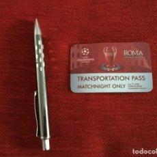 Coleccionismo deportivo: ENTRADA TICKET TRANSPORTE FINAL UEFA CHAMPIONS LEAGUE BARCELONA MANCHESTER UNITED 2009 ROMA. Lote 165106830