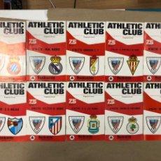 Coleccionismo deportivo: LOTE DE 10 PROGRAMAS DEL ATHLETIC CLUB. DE LOS 10 PRIMEROS PARTIDOS DE LA TEMPORADA 1973/74.. Lote 165191162