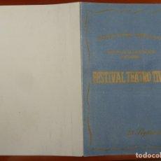 Coleccionismo deportivo: INTERESANTE PROGRAMA DE MANO FUTBOL FESTIVAL INAUGURACION CAMP NOU ESTADIO BARCELONA BARÇA 1957. Lote 165378282