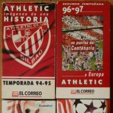 Coleccionismo deportivo: LOTE DE 4 CINTAS VHS - ATHLETIC CLUB DE BILBAO (1994, 1995, 1996, 1997, 1998, 1999) DOCUMENTALES. Lote 165610870