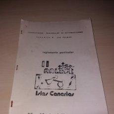 Coleccionismo deportivo: REGLAMENTO II RALLYE ISLAS CANARIAS - 1974. Lote 166906718