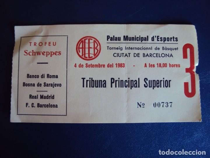 (F-190623B)ENTRADA TORNEO INTERNACIONAL DE BASKET DE CIUTAT DE BARCELONA - 4-9-1983 (Coleccionismo Deportivo - Documentos de Deportes - Otros)