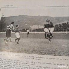 Coleccionismo deportivo: ATHLETIC - DEUSTO - PARTIDO CELEBRADO EN EL ESTADIO DE SAN MAMES - AÑO 1925 - 13 X 8 CM -FOTO ESPIGA. Lote 167544340