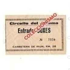 Coleccionismo deportivo: FORMULA 1. CIRCUITO DEL JARAMA. ENTRADA A BOXES. MUY RARO.. Lote 168755376