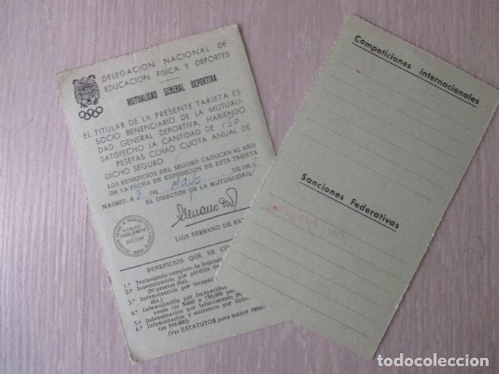 Coleccionismo deportivo: FEDERACIÓN ESPAÑOLA DE RUGBY 1965. CADETE. SEVILLA - Foto 2 - 168826064