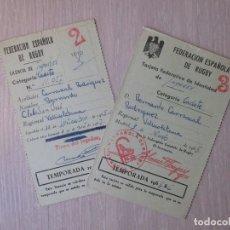 Coleccionismo deportivo: FEDERACIÓN ESPAÑOLA DE RUGBY 1965. CADETE. SEVILLA. Lote 168826064