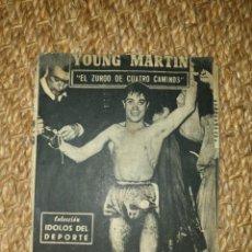 Coleccionismo deportivo: IDOLOS DEL DEPORTE BOXEO YOUNG MARTIN AÑOS 50 60. Lote 169259480