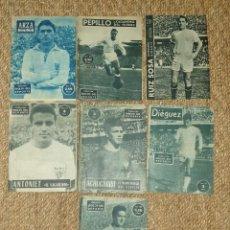 Coleccionismo deportivo: LOTE DE 7 IDOLOS DEL DEPORTE SEVILLA CF AÑOS 50 60. Lote 169260240