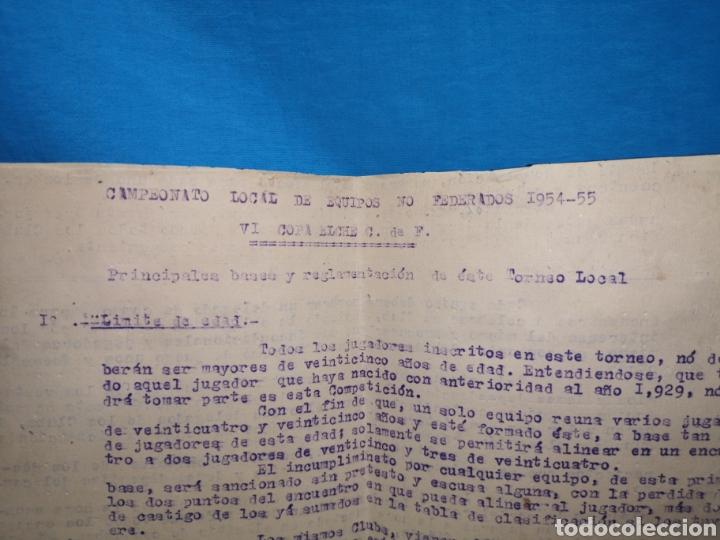 Coleccionismo deportivo: fichas del Campeonato de fútbol VI copa elche c. F. Campeonato local de equipos no federados 1954-55 - Foto 3 - 170020692
