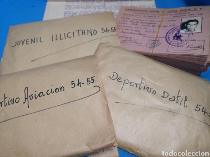 Coleccionismo deportivo: fichas del Campeonato de fútbol VI copa elche c. F. Campeonato local de equipos no federados 1954-55 - Foto 4 - 170020692