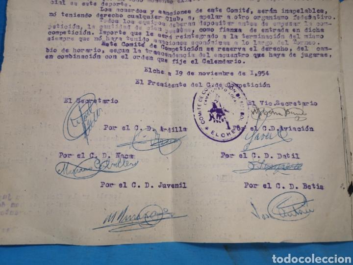 Coleccionismo deportivo: fichas del Campeonato de fútbol VI copa elche c. F. Campeonato local de equipos no federados 1954-55 - Foto 5 - 170020692