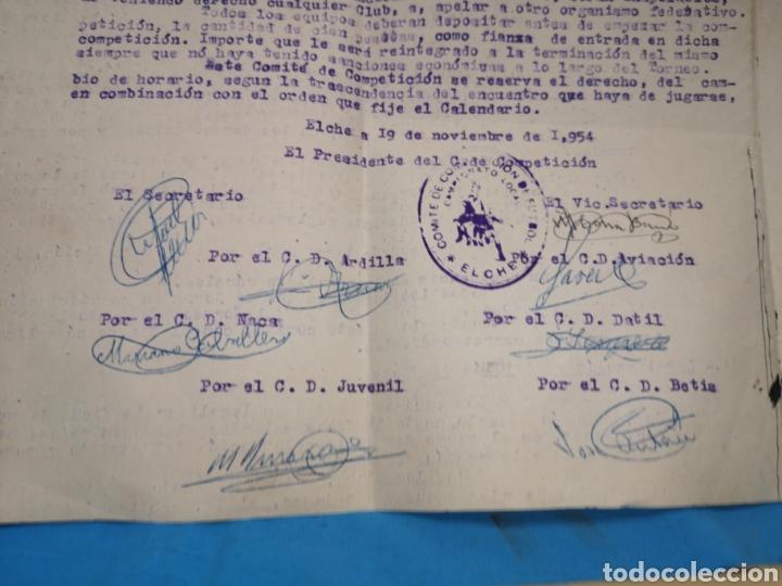 Coleccionismo deportivo: fichas del Campeonato de fútbol VI copa elche c. F. Campeonato local de equipos no federados 1954-55 - Foto 6 - 170020692