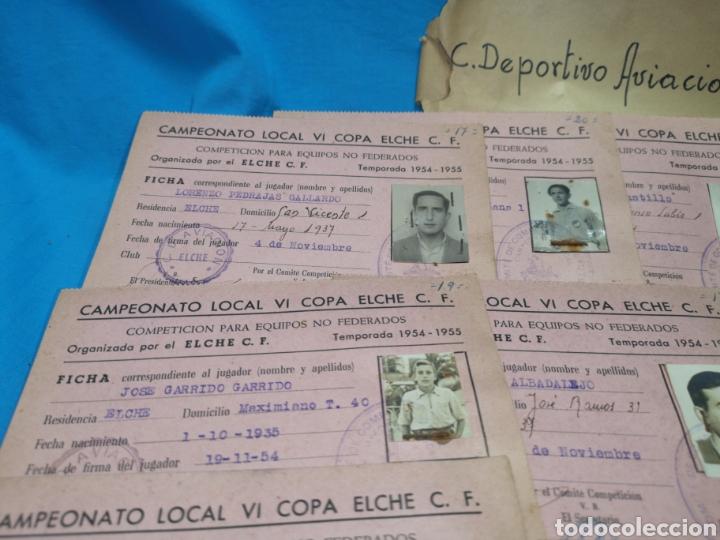 Coleccionismo deportivo: fichas del Campeonato de fútbol VI copa elche c. F. Campeonato local de equipos no federados 1954-55 - Foto 11 - 170020692