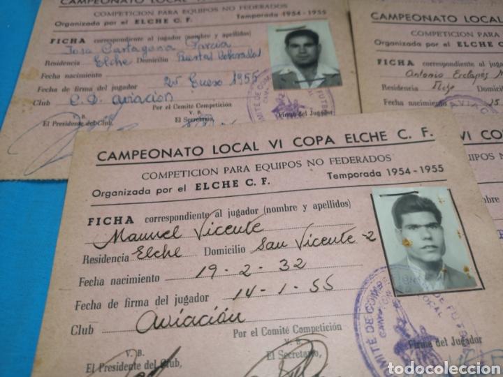 Coleccionismo deportivo: fichas del Campeonato de fútbol VI copa elche c. F. Campeonato local de equipos no federados 1954-55 - Foto 13 - 170020692
