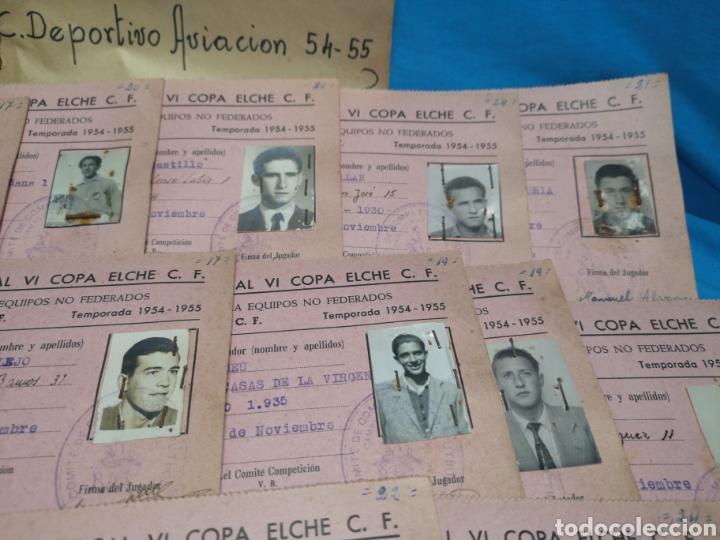 Coleccionismo deportivo: fichas del Campeonato de fútbol VI copa elche c. F. Campeonato local de equipos no federados 1954-55 - Foto 12 - 170020692