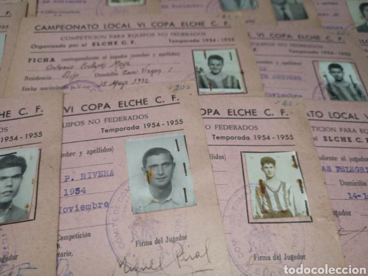 Coleccionismo deportivo: fichas del Campeonato de fútbol VI copa elche c. F. Campeonato local de equipos no federados 1954-55 - Foto 14 - 170020692