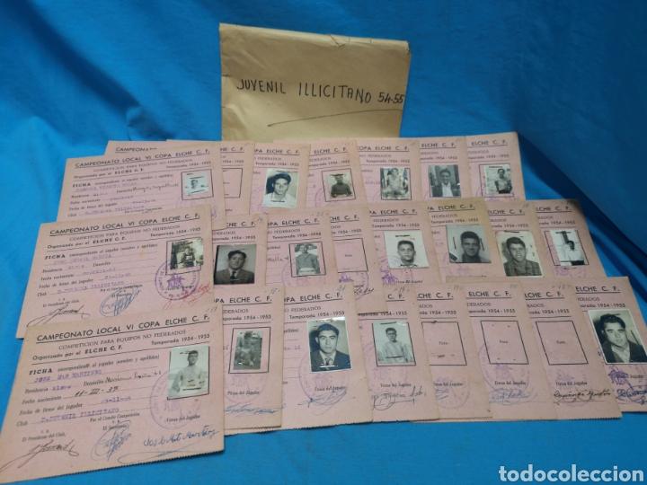 Coleccionismo deportivo: fichas del Campeonato de fútbol VI copa elche c. F. Campeonato local de equipos no federados 1954-55 - Foto 16 - 170020692