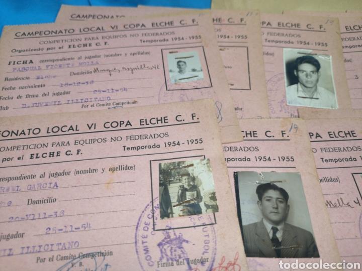 Coleccionismo deportivo: fichas del Campeonato de fútbol VI copa elche c. F. Campeonato local de equipos no federados 1954-55 - Foto 18 - 170020692