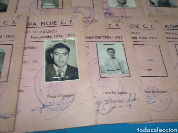 Coleccionismo deportivo: fichas del Campeonato de fútbol VI copa elche c. F. Campeonato local de equipos no federados 1954-55 - Foto 22 - 170020692