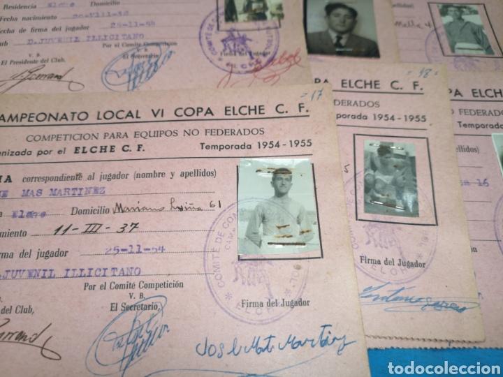 Coleccionismo deportivo: fichas del Campeonato de fútbol VI copa elche c. F. Campeonato local de equipos no federados 1954-55 - Foto 23 - 170020692