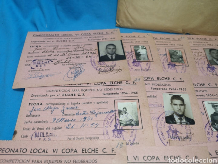Coleccionismo deportivo: fichas del Campeonato de fútbol VI copa elche c. F. Campeonato local de equipos no federados 1954-55 - Foto 25 - 170020692