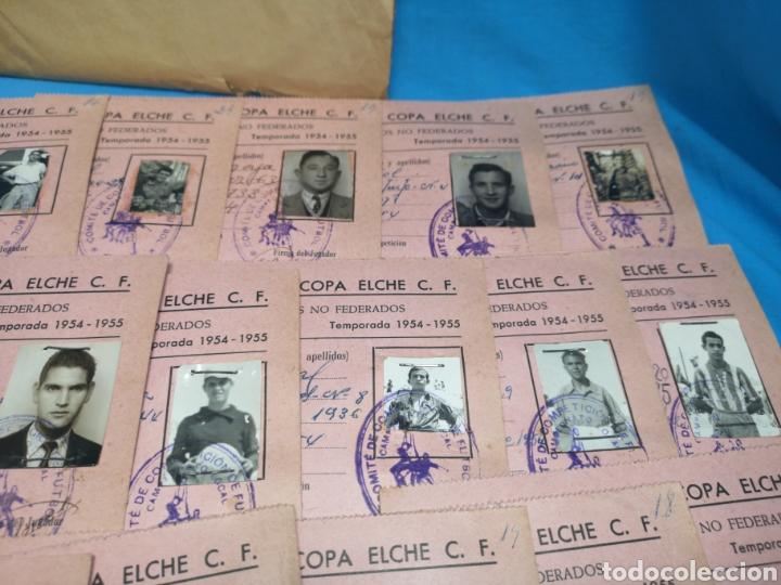 Coleccionismo deportivo: fichas del Campeonato de fútbol VI copa elche c. F. Campeonato local de equipos no federados 1954-55 - Foto 26 - 170020692