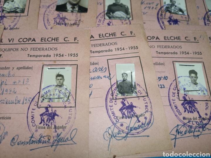 Coleccionismo deportivo: fichas del Campeonato de fútbol VI copa elche c. F. Campeonato local de equipos no federados 1954-55 - Foto 28 - 170020692