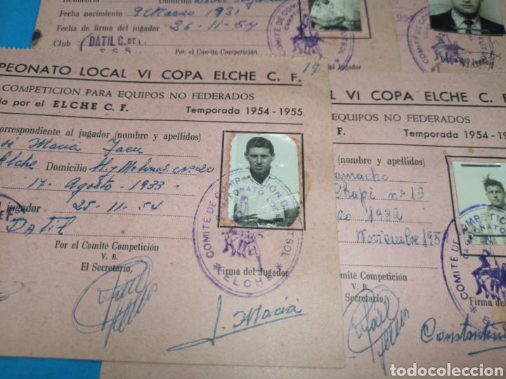 Coleccionismo deportivo: fichas del Campeonato de fútbol VI copa elche c. F. Campeonato local de equipos no federados 1954-55 - Foto 29 - 170020692