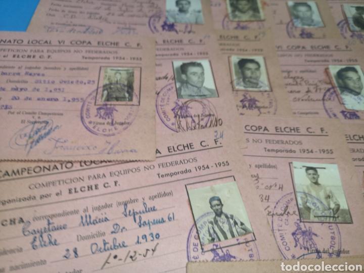Coleccionismo deportivo: fichas del Campeonato de fútbol VI copa elche c. F. Campeonato local de equipos no federados 1954-55 - Foto 35 - 170020692