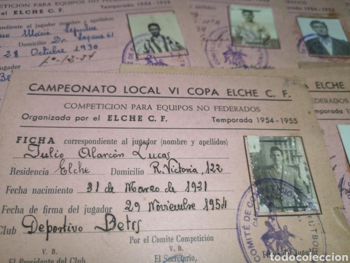 Coleccionismo deportivo: fichas del Campeonato de fútbol VI copa elche c. F. Campeonato local de equipos no federados 1954-55 - Foto 36 - 170020692