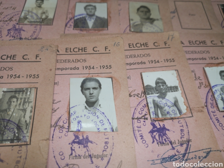 Coleccionismo deportivo: fichas del Campeonato de fútbol VI copa elche c. F. Campeonato local de equipos no federados 1954-55 - Foto 37 - 170020692