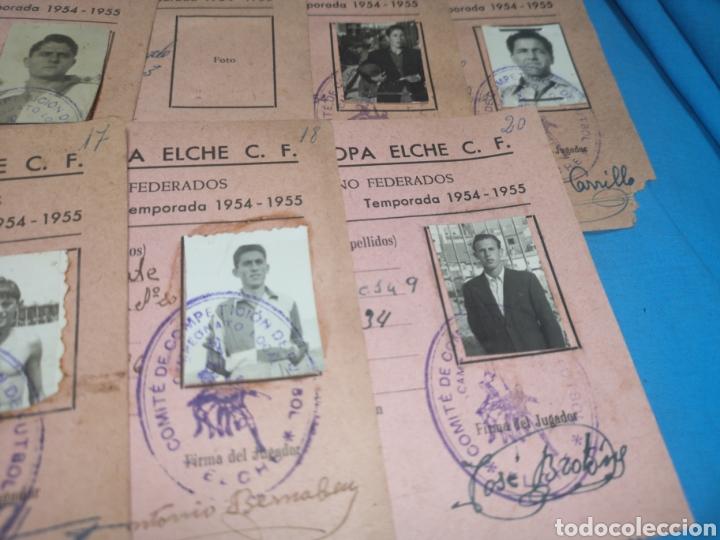 Coleccionismo deportivo: fichas del Campeonato de fútbol VI copa elche c. F. Campeonato local de equipos no federados 1954-55 - Foto 38 - 170020692