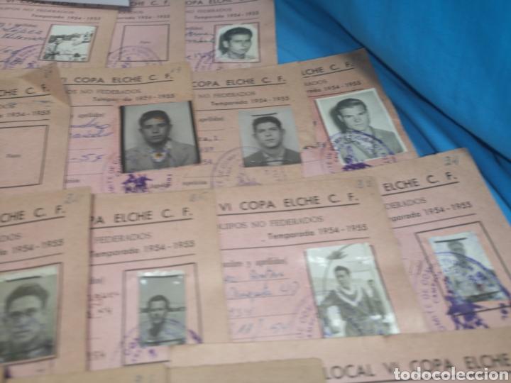 Coleccionismo deportivo: fichas del Campeonato de fútbol VI copa elche c. F. Campeonato local de equipos no federados 1954-55 - Foto 42 - 170020692