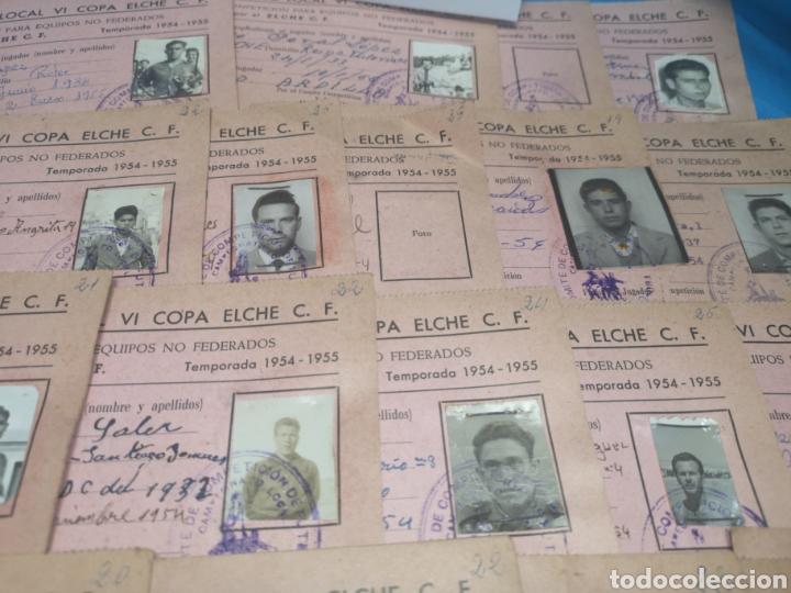 Coleccionismo deportivo: fichas del Campeonato de fútbol VI copa elche c. F. Campeonato local de equipos no federados 1954-55 - Foto 43 - 170020692