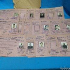 Coleccionismo deportivo: CAMPEONATO DE FÚTBOL LOCAL IV COPA ELCHE C. F., FICHAS DEL EQUIPO C. DEPORTIVO VICTORIA 1952-1953. Lote 170106037