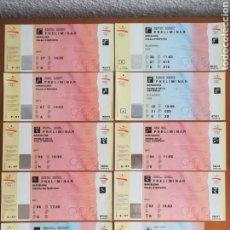 Coleccionismo deportivo: LOTE 11 ENTRADAS JUEGOS OLÍMPICOS BARCELONA 1992 - COBI JOCS OLIMPIADAS GRANOLLERS BADALONA.... Lote 170949394