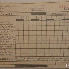 Coleccionismo deportivo: ANTIGUO IMPRESO.QUINIELA DE FUTBOL. JORNADA 35. 1974. Lote 171210434