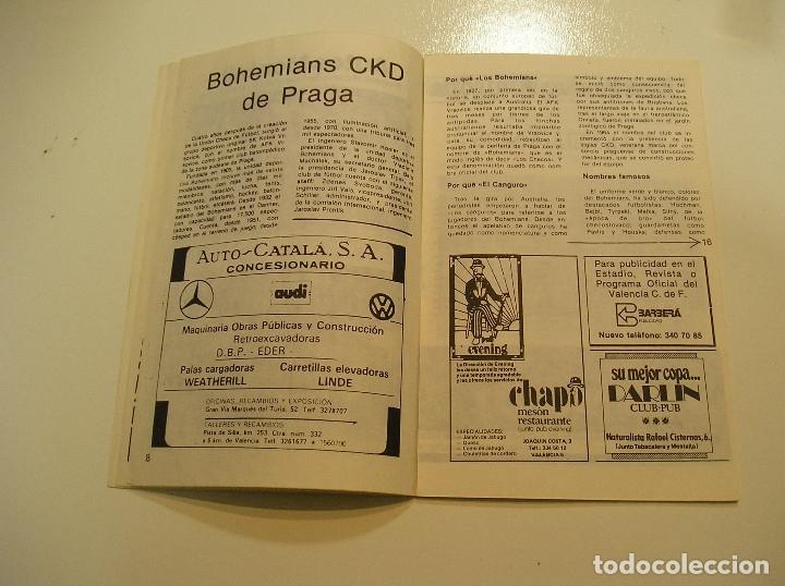 Coleccionismo deportivo: PROGRAMA oficial FUTBOL.VALENCIA C.F.-Bohemians ckd Praga. Copa UEFA.campeonato de europa.1981. - Foto 7 - 171274013