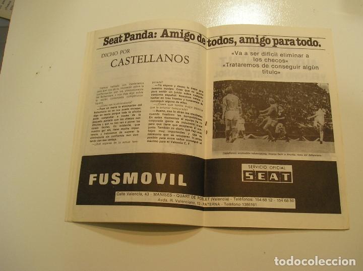 Coleccionismo deportivo: PROGRAMA oficial FUTBOL.VALENCIA C.F.-Bohemians ckd Praga. Copa UEFA.campeonato de europa.1981. - Foto 8 - 171274013