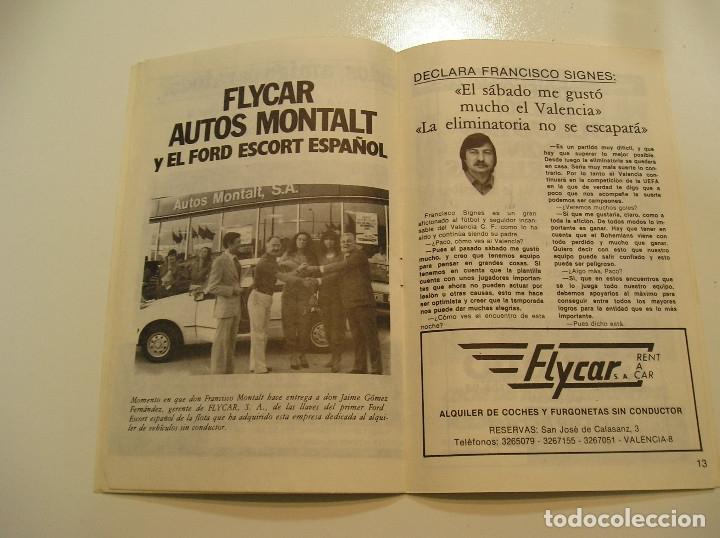 Coleccionismo deportivo: PROGRAMA oficial FUTBOL.VALENCIA C.F.-Bohemians ckd Praga. Copa UEFA.campeonato de europa.1981. - Foto 9 - 171274013