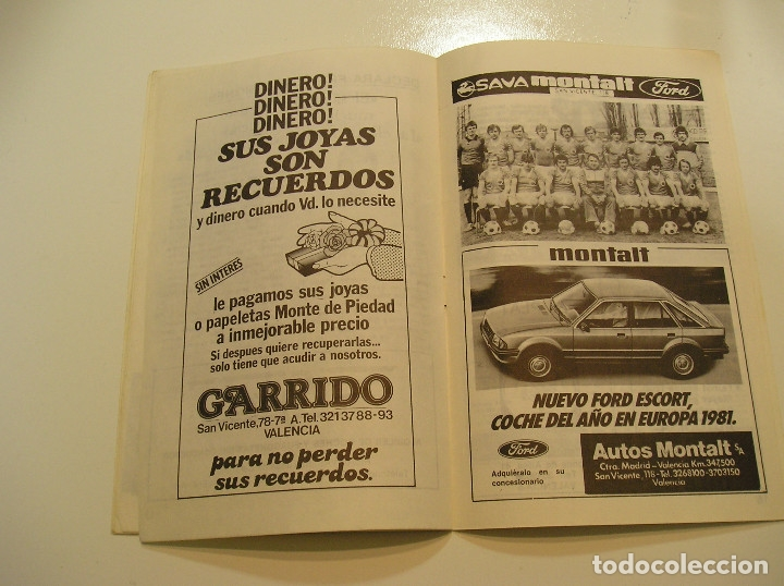 Coleccionismo deportivo: PROGRAMA oficial FUTBOL.VALENCIA C.F.-Bohemians ckd Praga. Copa UEFA.campeonato de europa.1981. - Foto 10 - 171274013