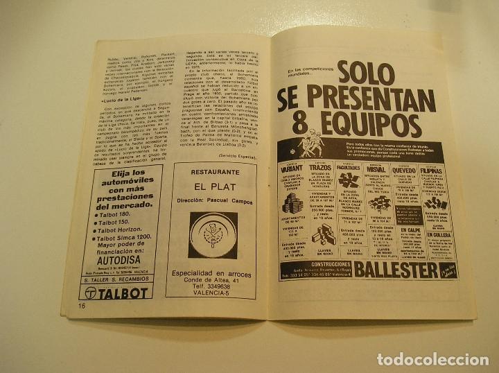 Coleccionismo deportivo: PROGRAMA oficial FUTBOL.VALENCIA C.F.-Bohemians ckd Praga. Copa UEFA.campeonato de europa.1981. - Foto 11 - 171274013